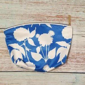 Estee Lauder makeup bag blue and white floral